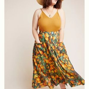 🍊Anthropologie Maeve Orchard Skirt 18W🍊